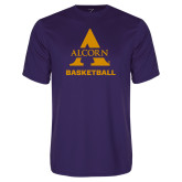 Performance Purple Tee-Alcorn Basketball