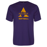 Performance Purple Tee-Alcorn Softball
