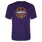 Performance Purple Tee-Alcorn State Basketball