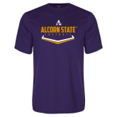 Performance Purple Tee-Alcorn State Softball