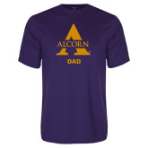 Performance Purple Tee-Alcorn Dad