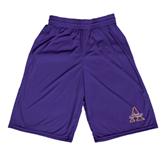 Performance Classic Purple 9 Inch Short-Alcorn Official Logo