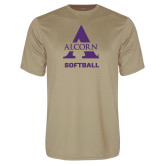 Performance Vegas Gold Tee-Alcorn Softball