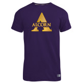 Russell Purple Essential T Shirt-Alcorn A