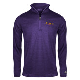 Russell Purple Heather 1/4 Zip-Alcorn State University