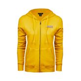 ENZA Ladies Gold Fleece Full Zip Hoodie-Arched Alcorn State University