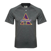 Under Armour Carbon Heather Tech Tee-Alcorn Official Logo