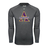 Under Armour Carbon Heather Long Sleeve Tech Tee-Alcorn Official Logo