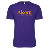 Next Level SoftStyle Purple T Shirt-Alcorn State University