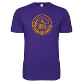 Next Level SoftStyle Purple T Shirt-Alcorn Seal