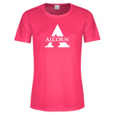 Ladies Performance Hot Pink Tee-Alcorn A