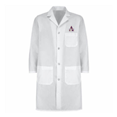 Mens White Lab Coat-Alcorn Official Logo