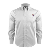 Red House White Long Sleeve Shirt-Alcorn Official Logo