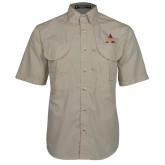 Khaki Short Sleeve Performance Fishing Shirt-Alcorn A