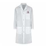 Ladies White Lab Coat-Alcorn Official Logo