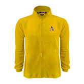 Fleece Full Zip Gold Jacket-Alcorn Official Logo