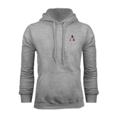 Alcorn Grey Fleece Hoodie-Alcorn Official Logo