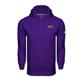 Under Armour Purple Performance Sweats Team Hoodie-ASU