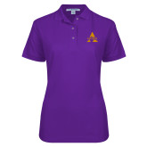 Ladies Easycare Purple Pique Polo-Alcorn A