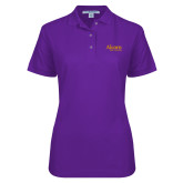 Ladies Easycare Purple Pique Polo-Alcorn State University