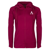 Ladies Sport Wick Stretch Full Zip Deep Berry Jacket-Alcorn A
