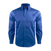 Red House French Blue Long Sleeve Shirt-Alcorn Official Logo