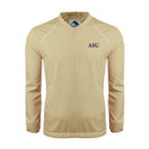 Colorblock V Neck Vegas Gold/White Raglan Windshirt-ASU