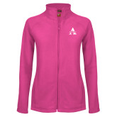 Ladies Fleece Full Zip Raspberry Jacket-Alcorn A