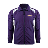 Colorblock Purple/White Wind Jacket-Arched Alcorn State University