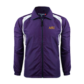 Colorblock Purple/White Wind Jacket-ASU