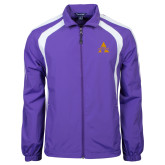 Colorblock Purple/White Wind Jacket-Alcorn A