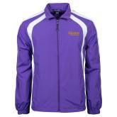 Colorblock Purple/White Wind Jacket-Alcorn State University