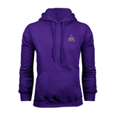 Alcorn Purple Fleece Hoodie-Alcorn Official Logo