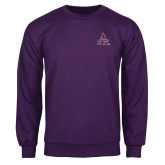 Purple Fleece Crew-Alcorn Official Logo