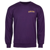 Purple Fleece Crew-Arched Alcorn State University