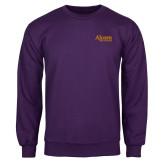 Purple Fleece Crew-Alcorn State University