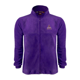 Fleece Full Zip Purple Jacket-Alcorn Official Logo