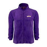 Fleece Full Zip Purple Jacket-Arched Alcorn State University