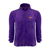 Fleece Full Zip Purple Jacket-ASU
