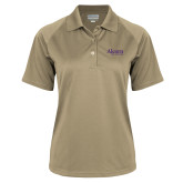 Ladies Vegas Gold Textured Saddle Shoulder Polo-Alcorn State University