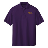 Purple Easycare Pique Polo-Alcorn State University