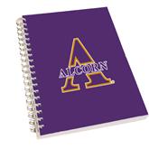 Clear 7 x 10 Spiral Journal Notebook-Alcorn Official Logo