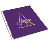 College Spiral Notebook w/Clear Coil-Alcorn Official Logo