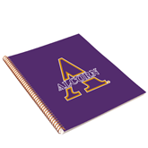 College Spiral Notebook w/Gold Coil-Alcorn Official Logo