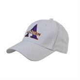 White Heavyweight Twill Pro Style Hat-Alcorn Official Logo