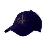 Purple Twill Unstructured Low Profile Hat-Alcorn Official Logo