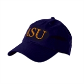 Purple Twill Unstructured Low Profile Hat-ASU