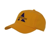 Gold Twill Unstructured Low Profile Hat-Alcorn Official Logo