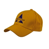 Gold Heavyweight Twill Pro Style Hat-Alcorn Official Logo
