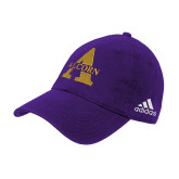 Adidas Purple Slouch Unstructured Low Profile Hat-Alcorn A